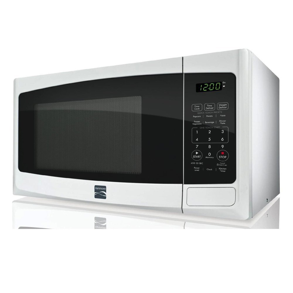 Countertop Microwave Pros And Cons : Kenmore Small White Countertop Microwave with 6 smart settings