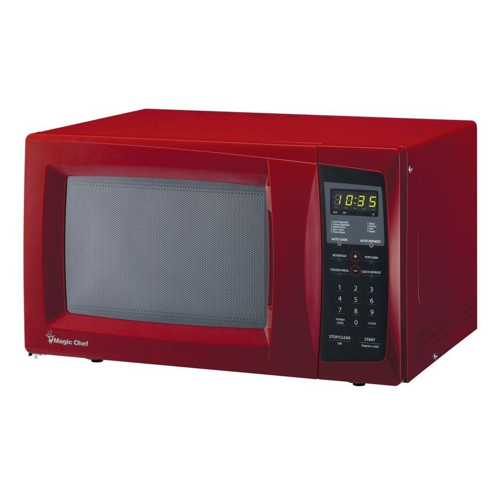 Magic chef red countertop microwave small red microwave - Red over the range microwave ...