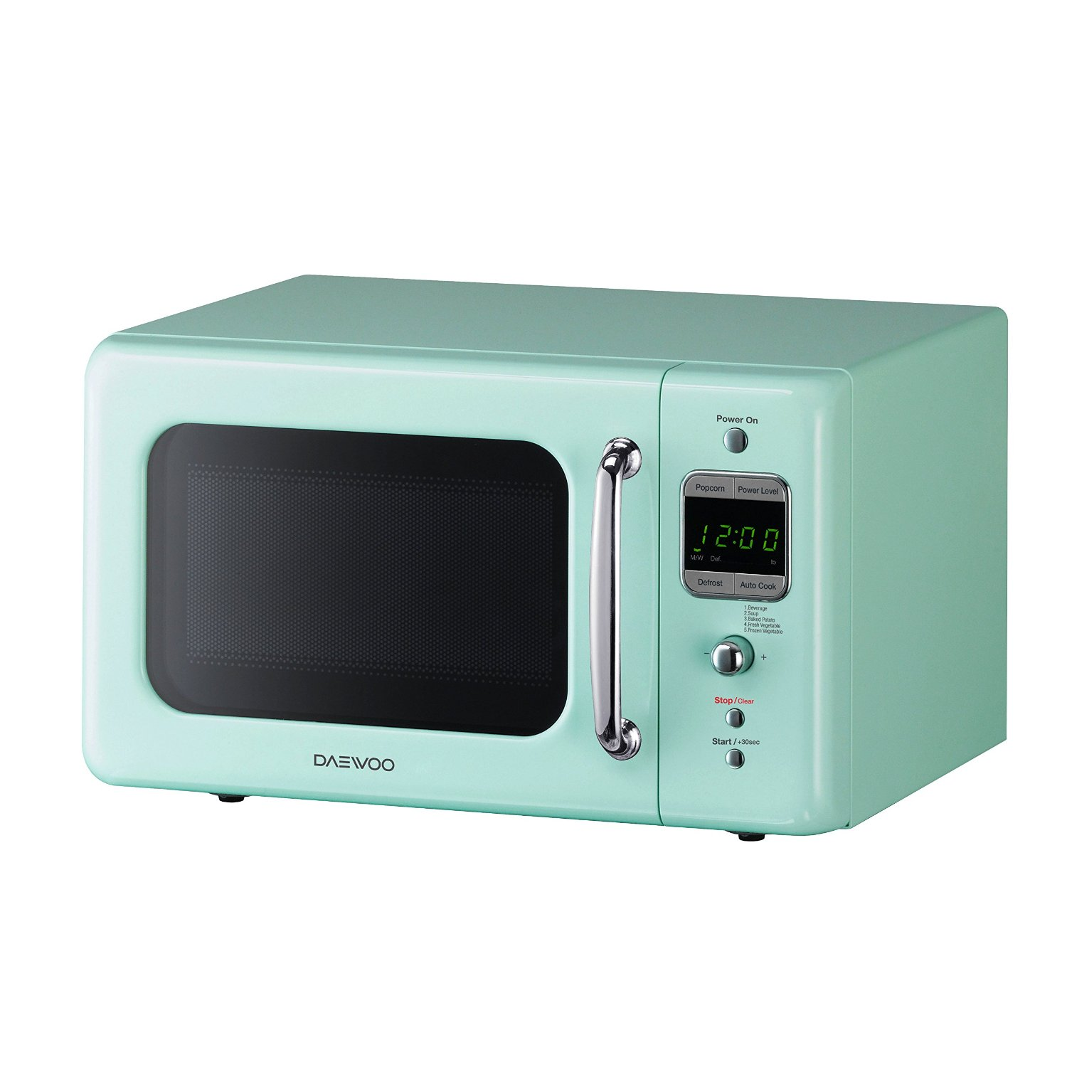 Daewoo Retro Mint Green Microwave Oven Small 0.7 Cu Ft